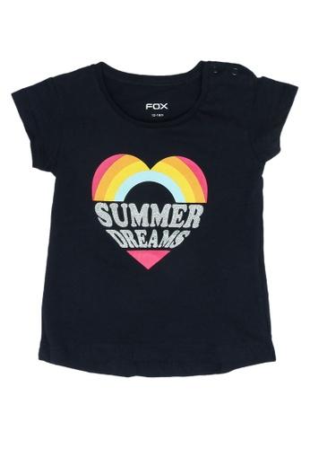 FOX Kids & Baby navy Baby Girl Short Sleeve Tee B0026KA6480EB5GS_1