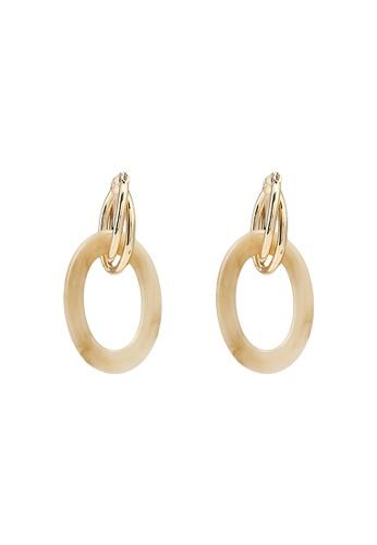 niko and ... gold Linked Hoop Earrings A857FAC22A2DAEGS_1