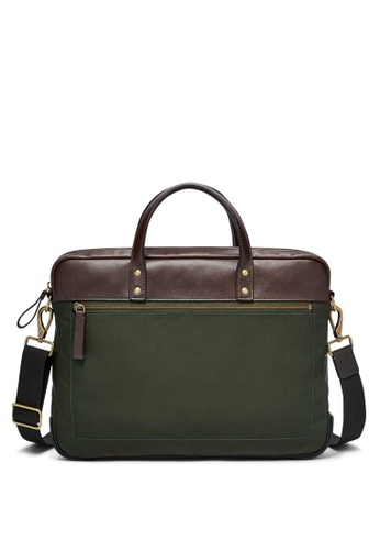 Fossil green and multi Fossil Haskell Green Brief MBG9369300 F1774AC798CFD9GS_1