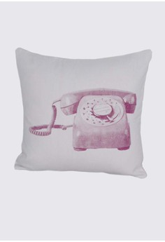 Vintage Telephone Print A Throw Pillow Case