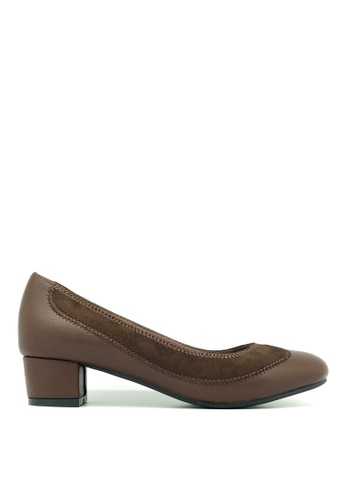 "Carlo Rino brown Carlo Rino 333010-277-15 2""Round Toe Pumps (Brown) 24DA2SH747FFEAGS_1"