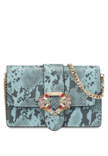 Mango blue Faceted Crystal Snakeskin Bag 09A45ACFED3255GS_1