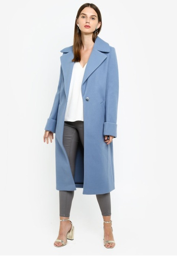 recognized brands best quality highly praised Blue Knitted Adriana Coat