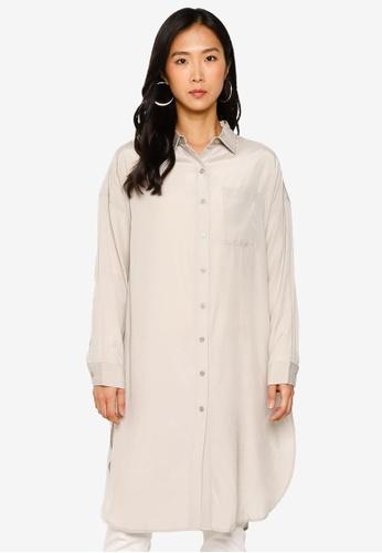 LOWRYS FARM grey Viscose Shirt Tunic A131CAA43E0DBCGS_1
