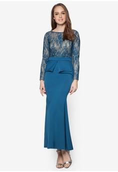 Lace Peplum Dress - Vercato Vivi