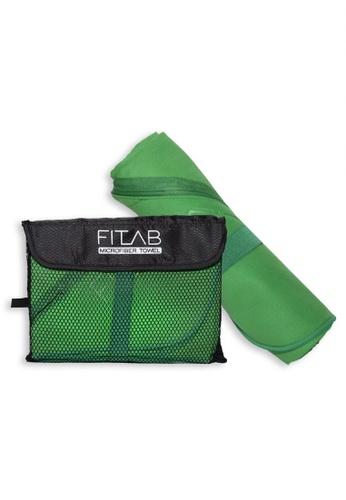 Fitlab green Microfiber Sports Towel 5B53FHL51855D9GS_1