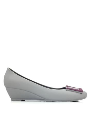 Twenty Eight Shoes 灰色 防水果凍膠船跟雨鞋 VY5121 6E14CSH1030D7DGS_1