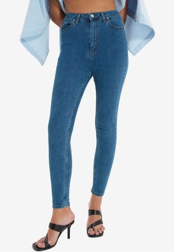 Trendyol blue High Waist Skinny Jeans A0851AA289C3E5GS_1