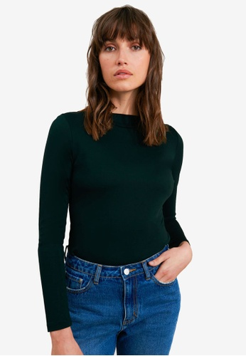FORCAST green Vivian Boat Neck Top B47A9AA5CD4E43GS_1