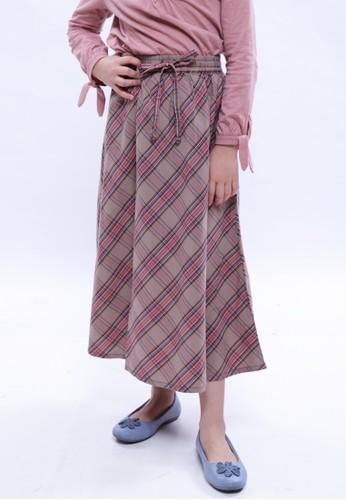 EXIT GIRL brown Naila Long Skirt A5D98KA98699DFGS_1
