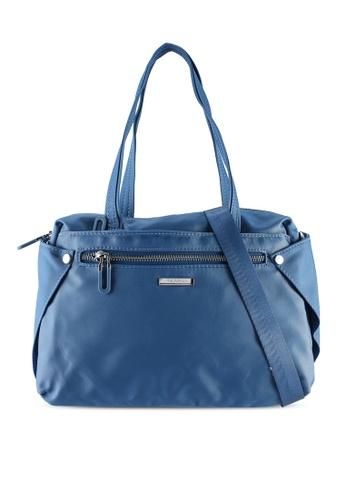 NUVEAU blue Lightweight Nylon Shoulder Bag D6C17AC43E625EGS_1