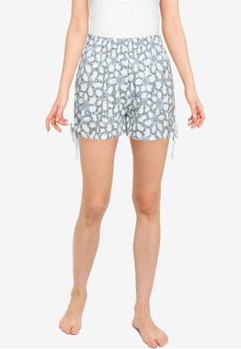 Cotton On Body blue Jersey Placket Bed Shorts 7622FAAE9325A4GS_1