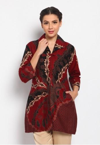 ABIROY red Tunik Batik Abyasa FB140AA8DFBD54GS_1