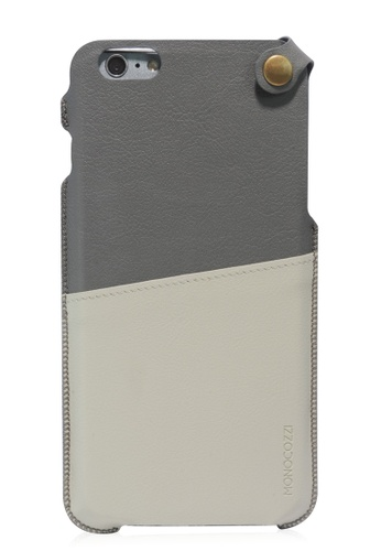 Monocozzi grey Posh Soft Leather Pouch For iPhone 6 Plus MO983AC66BWZHK_1