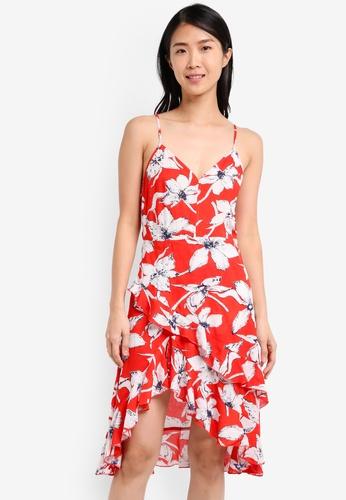 ZALORA red Wrap Front Dress F3FB1AABB6BA93GS_1