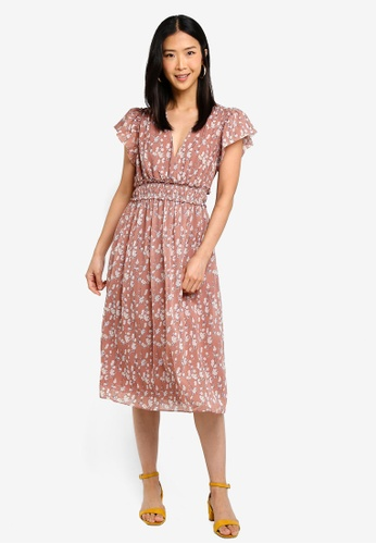 Buy Max Studio Flutter Sleeves Dress Online on ZALORA Singapore bc79f3d29