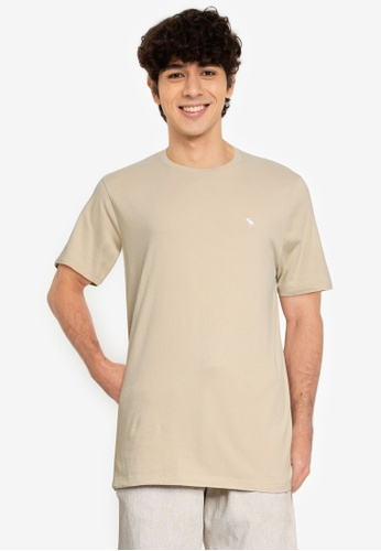 Abercrombie & Fitch brown Icon Crews T-Shirt E0BE7AAE80B5F8GS_1