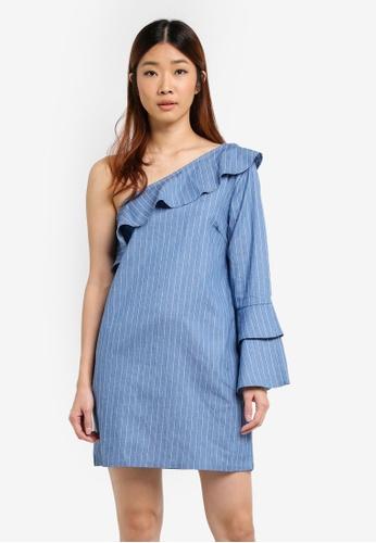 Something Borrowed blue Ruffle Toga Dress B731EAA8A6393CGS_1
