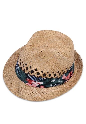 Buy Burton Menswear London Woven Floral Trilby Hat Online on ZALORA  Singapore 4fd57e2a859
