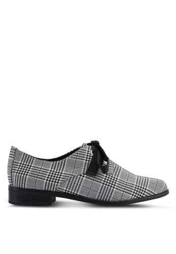 ALDO 黑色 格紋牛津鞋 2A2F7SH6473BD2GS_1