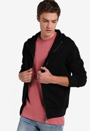 Cotton On black Neue Zip Hoodie CO372AA46LCVMY_1