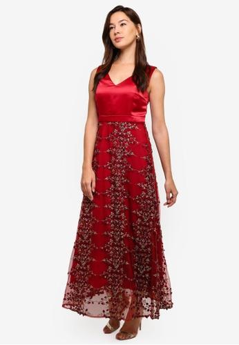 df1ca9ece11c Megane red Red Romance Diannah V-Neck Long Dress 145D9AA757E0DCGS_1