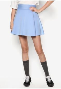Mini Skirt with Box Pleats