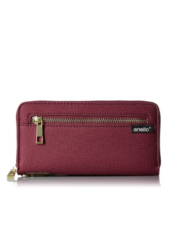 Anello red [ANERO]Official Poly Canvas Simple-style Long Wallet AT-B0199-WI Wine 0F45BACE6DCC3EGS_1