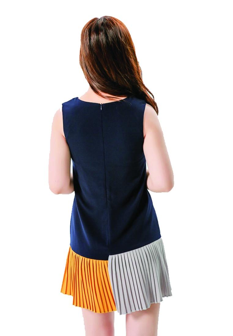 Dress Mini ICONIC navy Color Block a1wxzcq