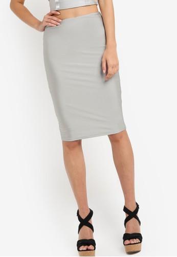 zalora 評價亮質修身及膝裙, 服飾, 服飾