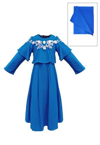 ESTRELLA blue Muslim Dress Anak ESM 97 6/12 F3D31KA7D1BC4FGS_1
