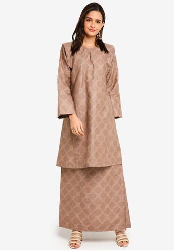 Butik Sireh Pinang brown Fatini Kurung Pahang 66B8CAA44BC8BCGS_1