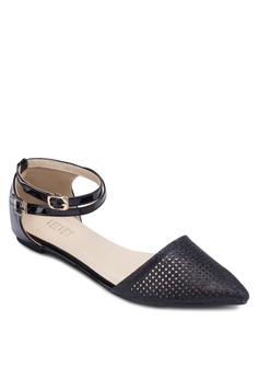 Steph Shimmer Perforated d'Orsay Flats