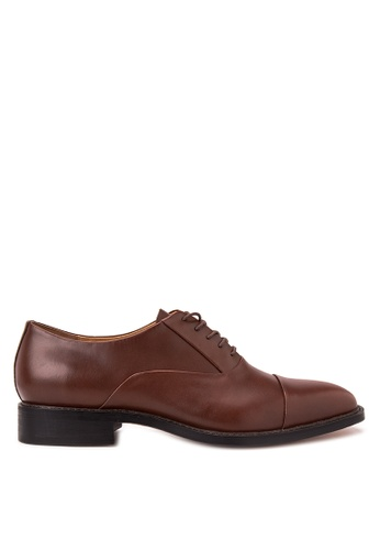 Bristol Shoes brown Bryce Brown Oxford Cap-toe BR842SH20OZZPH_1