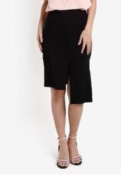 ZALORA black Collection Asymmetric Split Skirt 7C789AA58CFA9CGS_1