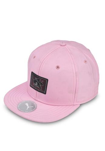 PUMA pink PUMA x SEGA Flat Brim Cap BE96AKCF8761E8GS_1
