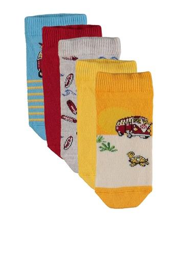 LC Waikiki multi 5-pack Boy's Trainer Socks 7014AKA287DA69GS_1