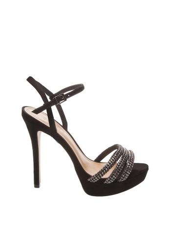 SCHUTZ black Black Nubuck Cristal Platform Sandals - ELLA [BLACK] 8A322SH9B2D848GS_1
