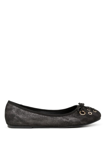 London Rag black Black Ballerina Flats with Bow SH1701 88B07SH654515CGS_1