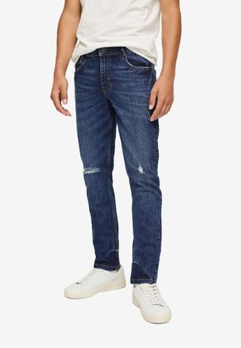 MANGO KIDS blue Slim-Fit Cropped Jeans 779EBKA1B5D617GS_1