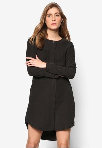 襯衫寬版長袖連身裙salon esprit 香港, 服飾, 洋裝