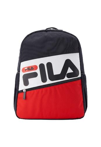FILA navy FILA KIDS FILA Logo Colour Blocks Backpacks BC67AKC78D2774GS_1