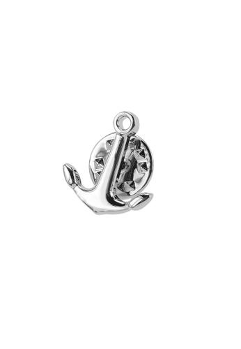 CUFF IT silver Silver Anchor Lapel Pins 4DA5EAC5341E42GS_1
