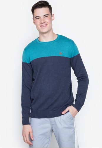 Springfield blue Two Tone Pullover B4FB6AA1D897AAGS_1