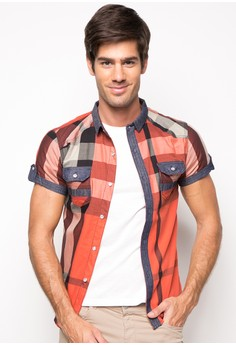 Orlando Short Sleeve Checkered Buttondown Shirt