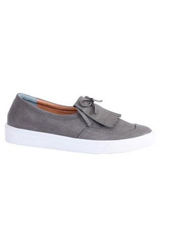 Crystal Korea Fashion grey Korean Made Tassel Bow Decorative Shoes CR681SH2VYOXHK_1