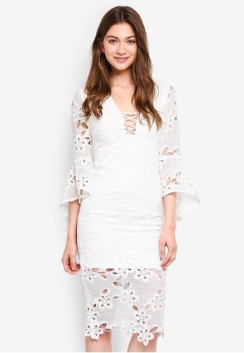 Bardot white Indra Lace Dress BA332AA0STBDMY_1