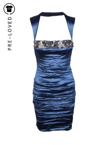 Nicole Miller blue Pre-Loved nicole miller Embellished Blue Dress 90010AA6888C4BGS_1