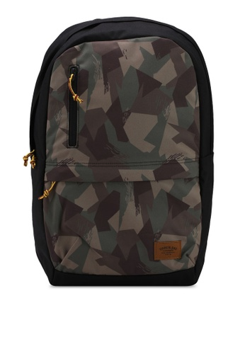 Timberland green and multi Zip Top Backpack 66E1FAC8DA3056GS_1