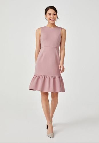 Love, Bonito pink Roselyn Ruffle Hem A-line Dress D7ADFAAEF81F31GS_1